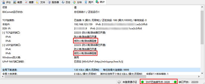 双绿灯IPV6被阻塞